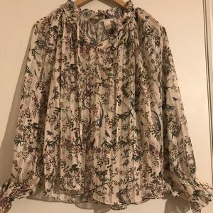 H&M Bird sheer blouse